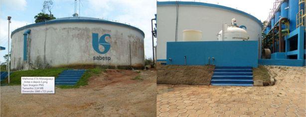 Melhorias ETA Massaguaçu - Antes e Depois 2